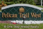 sign for Pelican Trail West