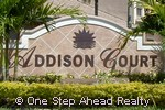 sign for Addison Court